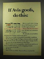 1964 Avis Rent a Car Ad - If Avis Goofs, Do This