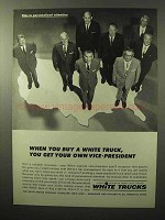 1964 White Trucks Ad - Get Your Own Vice-President