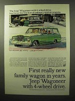 1964 Jeep Wagoneer Ad - First New Family Wagon in Years
