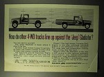 1964 Jeep Gladiator Pickup Truck Ad - Line Up Against