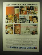 1964 United States Line Ad - Every Crossing Social