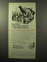 1964 Marsh & McLennan Insurance Ad - Prehistoric