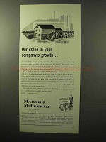 1964 Marsh & McLennan Insurance Ad - Company's Growth