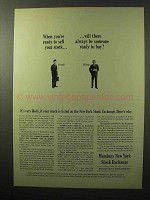 1964 Members New York Stock Exchange Ad - Sell