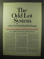 1964 Members New York Stock Exchange Ad - Odd Lot