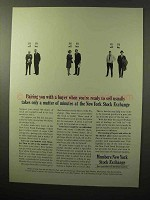 1964 Members New York Stock Exchange Ad - Pairing