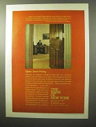 1964 The Bank of New York Ad - Open Door Policy