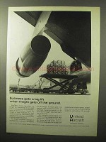 1964 United Aircraft Ad - Freight Gets Off the Ground