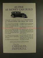 1926 Chrysler Imperial 80 Sedan 7-passenger Car Ad!!