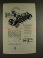 1926 Chrysler Imperial 80 Car Ad, The Interpretation!