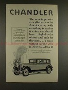 1926 Chandler Metropolitan Sedan Car Ad - NICE!!