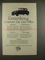 1927 Buick Car Ad - Everything a Motor Car Can Offer!!