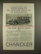 1927 Chandler Royal Eight Car Ad - Glorifying Ideals!!