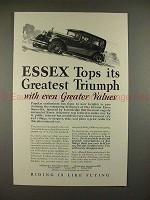 1927 Essex Super Six Car Ad - Tops Its Greatest Triumph