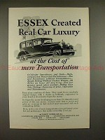 1927 Essex Super Six Car Ad - Created Real Car Luxury!!
