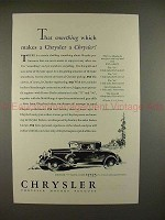 1930 Chrysler 77 Royal Coupe Car Ad - Something Makes!