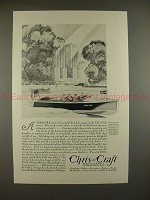 1930 Chris-Craft 20-foot Runabout Boat Ad - A Treasure!