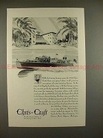 1930 Chris-Craft 48-Foot Luxury Cruiser Boat Ad!!