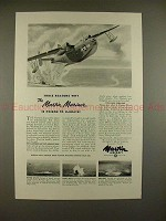 1944 WWII Martin Mariner Aircraft Ad, Poison to U-boats