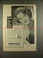 1950 Marshall's Photo-Oil Colors Ad w/ Alexis Smith!!