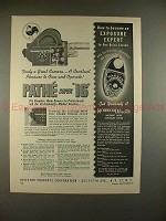 1950 Pathe Super 16 Movie Camera Ad - Truly Great!!