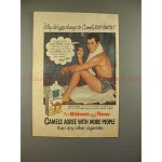 1953 Camel Cigarette Ad w/ Tony Curtis - Why Change?!!