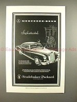 1957 Mercedes-Benz 300d Car Ad - Sophisticated - NICE!!