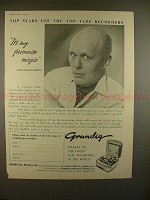 1957 Grundig Tape Recorder Ad w/ David Nixon - NICE!!