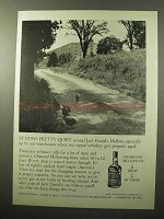 1964 Jack Daniel's Whiskey Ad - It Stays Pretty Quiet