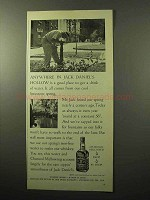 1964 Jack Daniel's Whiskey Ad - Anywhere in Hollow
