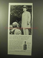 1964 Jack Daniel's Whiskey Ad - Statue