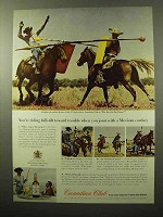 1964 Canadian Club Whisky Ad - Joust Mexican Cowboy