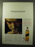 1964 Johnnie Walker Black Label Scotch Ad - Sniffing