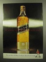 1964 Johnnie Walker Black Label Scotch Ad - You Know