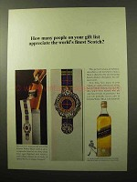 1964 Johnnie Walker Black Label Scotch Ad - Appreciate