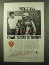 1964 Royal-Globe Insurance Ad - BFG Space Suit