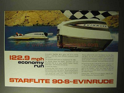 1964 Evinrude Starflite 90-S Outboard Motor Ad