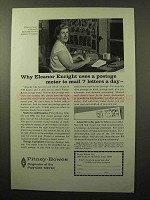 1964 Pitney-Bowes DM Postage Meter Ad - Eleanor Enright
