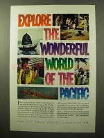 1964 Pacific Area Travel Association Ad - Explore