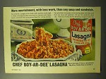 1964 Chef Boy-Ar-Dee Lasagna Ad - More Nourishment