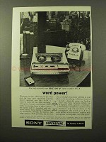 1964 Sony 801-A Tape Recorder Ad - Word Power!