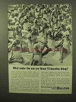 1964 Bulova Watches Ad - Under the Sun 73 Beauties