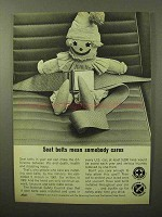 1964 National Safety Council Ad - Seat Belts Mean Cares