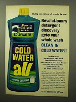 1964 Cold Water All Detergent Ad - Revolutionary