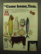 1964 Puss 'n Boots Pamper Cat Food Ad - Come Home