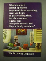 1964 Dixie Cup Dispenser Ad - Kitchen Appliance