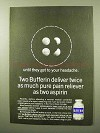 1964 Bufferin Medicine Ad - Twice Pain Reliever
