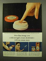 1964 Ban Cream Deodorant Ad - No Cream Mess