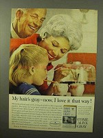 1964 Clairol Come Alive Gray Hair Color Ad - I Love
