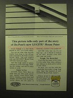 1964 Du Pont Lucite House Paint Ad - Part of Story
